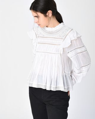 VIVIANA embroidered top