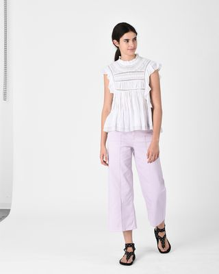 ISABEL MARANT ÉTOILE TOP Woman VIVIA embroidered sleeveless top r