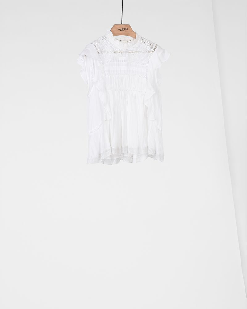 VIVIA embroidered sleeveless top ISABEL MARANT ÉTOILE