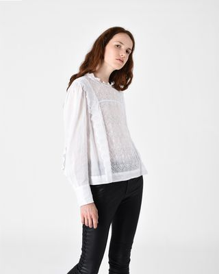 NUTSON graphic embroidered top