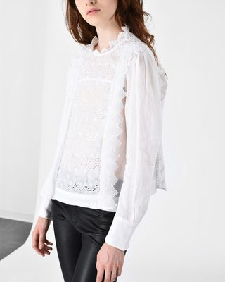 ISABEL MARANT TOP Woman NUTSON graphic embroidered top r