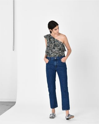 ISABEL MARANT ÉTOILE TOP Woman THOM asymmetric top r
