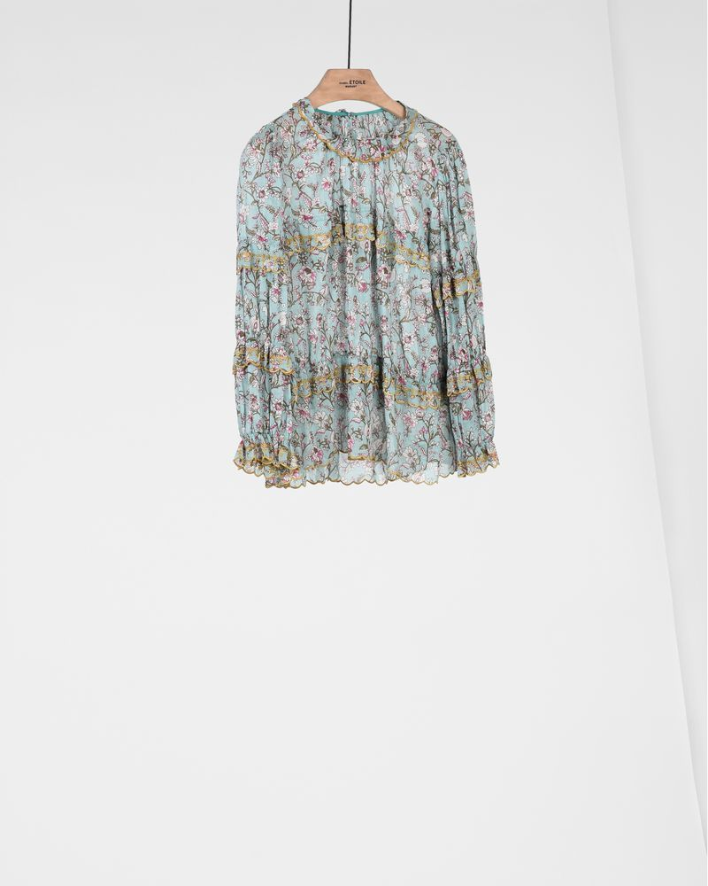 MOXLEY embroidered and printed top ISABEL MARANT ÉTOILE