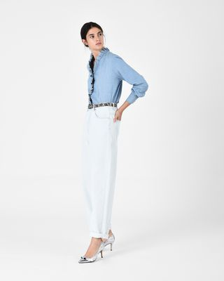 ISABEL MARANT ÉTOILE SHIRT & BLOUSE Woman LAWENDY chambray shirt r