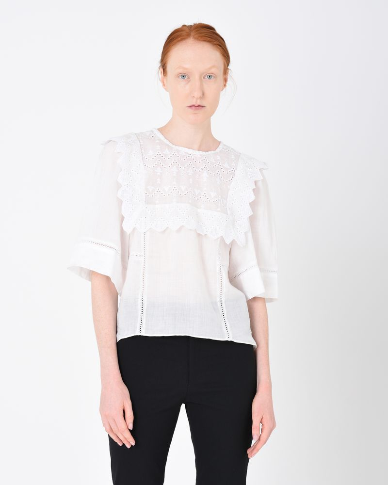 NESTO short sleeved embroidered top ISABEL MARANT