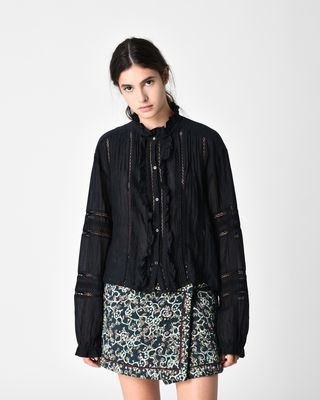 VALDA embroidered shirt