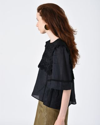 ISABEL MARANT TOP Woman NESTO short sleeved embroidered top r