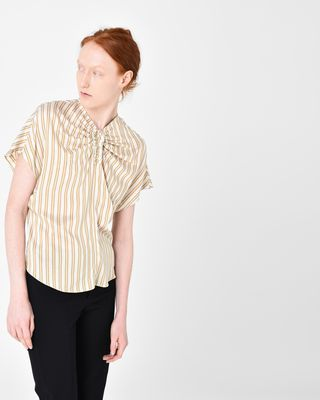 IAGA short-sleeved striped top
