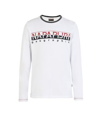 NAPAPIJRI K SABIN JUNIOR KID LONG SLEEVE T-SHIRT,WHITE