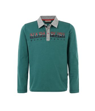 NAPAPIJRI K EGEK JUNIOR KID LONG SLEEVE POLO,EMERALD GREEN