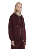 T by ALEXANDER WANG DENSE FLEECE ZIP THRU HOODIE 上衣 Adult 8_n_a