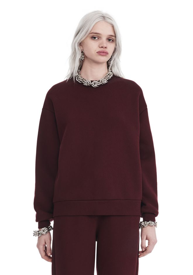 T by ALEXANDER WANG new-arrivals-t-by-alexander-wang-woman DENSE FLEECE PULLOVER