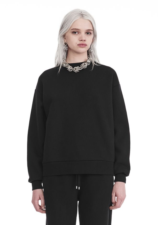 T by ALEXANDER WANG TOPS Women DENSE FLEECE PULLOVER