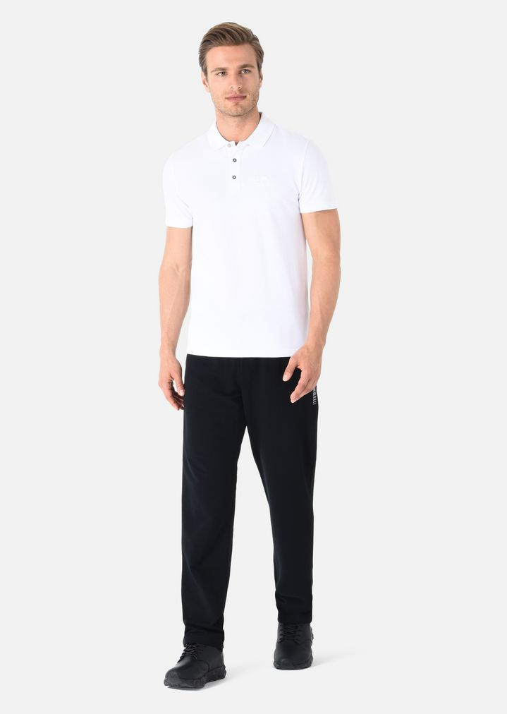 3e01147ff8 Pure cotton polo T-shirt | Man | Ea7