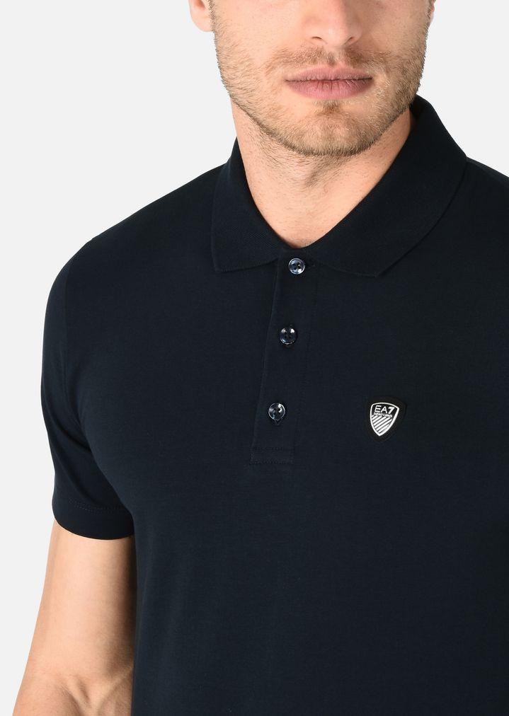 fd1e9dbf8 Polo T-shirt in stretch cotton.   Man   Ea7