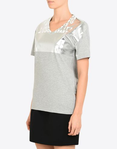 TOPS & TEES Charity AIDS T-shirt Silver