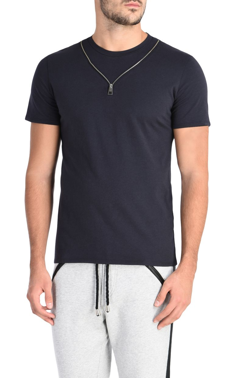 JUST CAVALLI T-shirt con cerniera applicata T-shirt maniche corte Uomo f