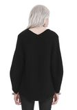 T by ALEXANDER WANG CHUNKY MOHAIR LONG SLEEVE V-NECK PULLOVER 上衣 Adult 8_n_d