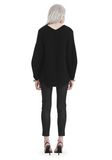 T by ALEXANDER WANG CHUNKY MOHAIR LONG SLEEVE V-NECK PULLOVER 上衣 Adult 8_n_r