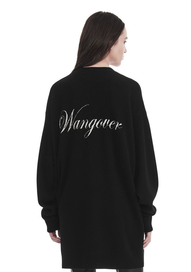 ALEXANDER WANG knitwear-ready-to-wear-woman EXCLUSIVE 'WANGOVER' JACQUARD OVERSIZED CARDIGAN