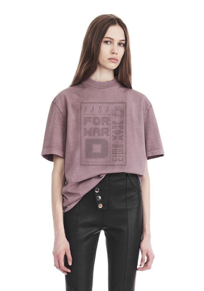 ALEXANDER WANG TOPS Women EXCLUSIVE SHORT SLEEVE TEE WITH GEL DOT ARTWORK