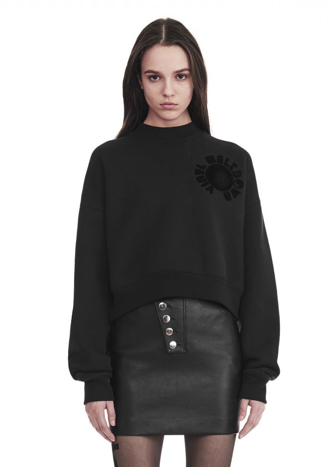 ALEXANDER WANG TOPS Women CROPPED MOCK NECK SWEATSHIRT