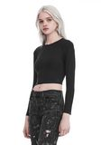 T by ALEXANDER WANG COMPACT STRETCH LONG SLEEVE CROPPED TOP 上衣 Adult 8_n_a