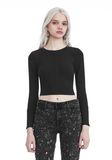 T by ALEXANDER WANG COMPACT STRETCH LONG SLEEVE CROPPED TOP 上衣 Adult 8_n_e