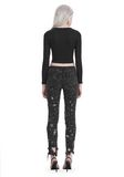T by ALEXANDER WANG COMPACT STRETCH LONG SLEEVE CROPPED TOP 上衣 Adult 8_n_r
