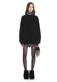 ALEXANDER WANG TURTLENECK PULLOVER WITH CRYSTAL NECK TRIM TOP Adult 8_n_f
