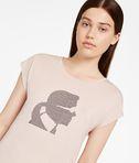 KARL LAGERFELD T-shirt con Profilo di Karl in Strass 8_e
