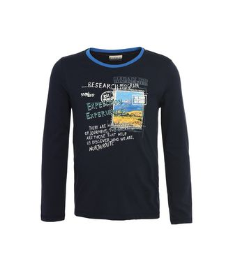 NAPAPIJRI K SAVOONGA JUNIOR KID LONG SLEEVE T-SHIRT,DARK BLUE