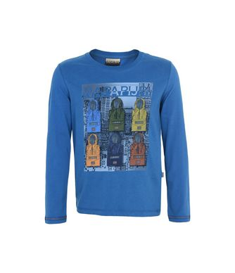 NAPAPIJRI K SAJAMA JUNIOR KID LONG SLEEVE T-SHIRT,BLUE
