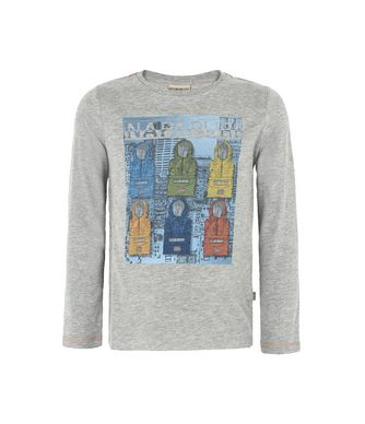 NAPAPIJRI K SAJAMA JUNIOR KID LONG SLEEVE T-SHIRT,GREY