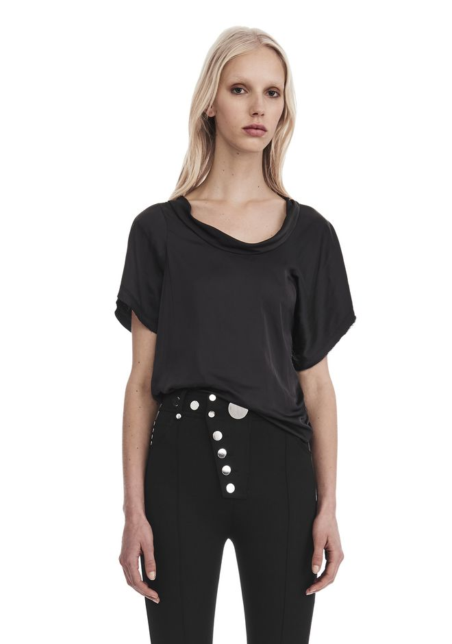 ALEXANDER WANG TOPS Women DRAPED TWIST TEE
