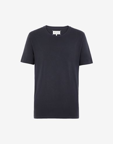 TOPS Cotton crewneck T-shirt Blue