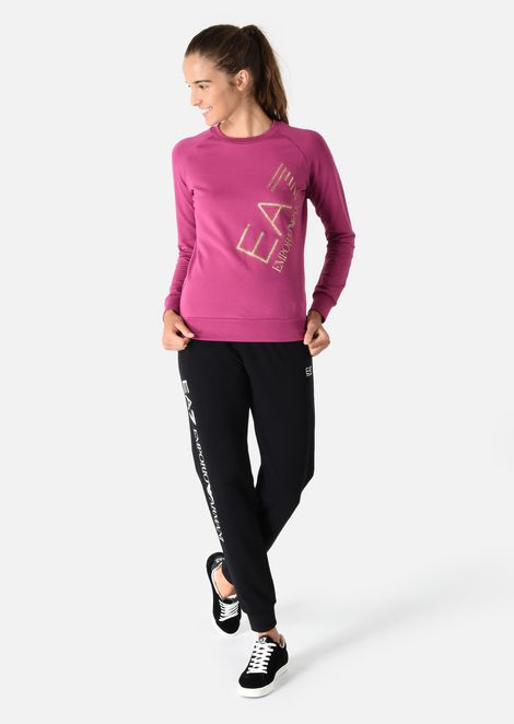 Sweatshirt in stretch cotton