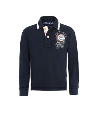 NAPAPIJRI K GANDY LONG SLEEVES JUNIOR KID LONG SLEEVE POLO,DARK BLUE