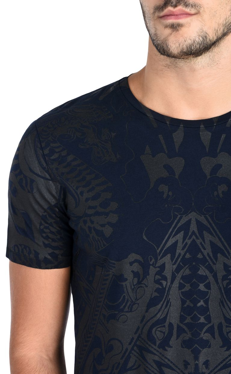 JUST CAVALLI T-shirt with an allover dragon print Short sleeve t-shirt Man e