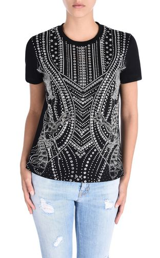 JUST CAVALLI Short sleeve t-shirt D Studded short-sleeved T-shirt f