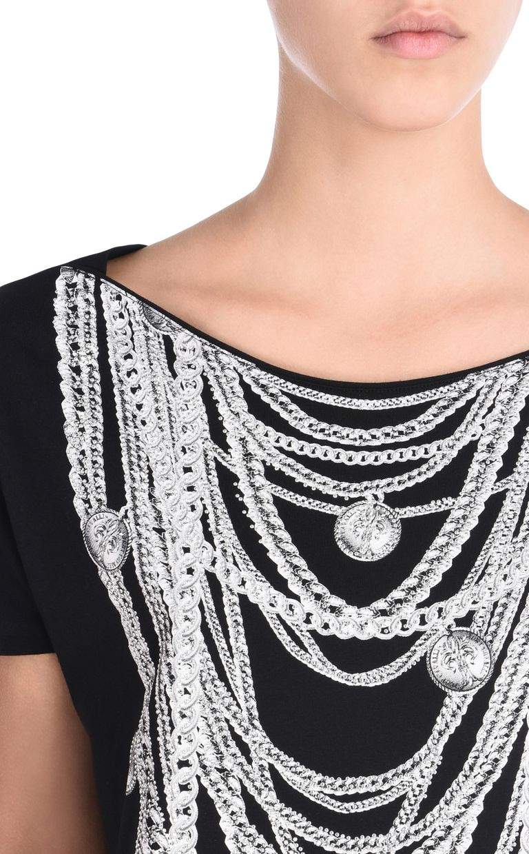 JUST CAVALLI Short-sleeved T-shirt with necklace print Short sleeve t-shirt D e