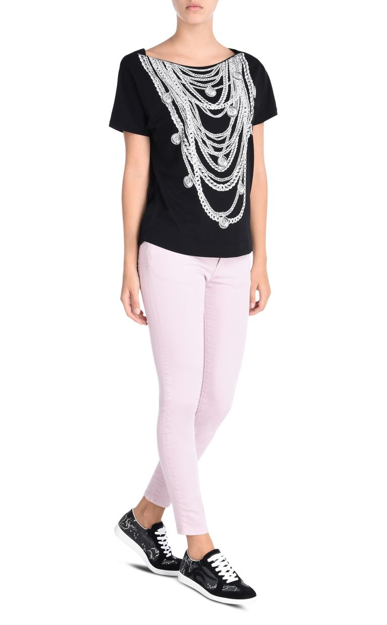 JUST CAVALLI Short-sleeved T-shirt with necklace print Short sleeve t-shirt D r