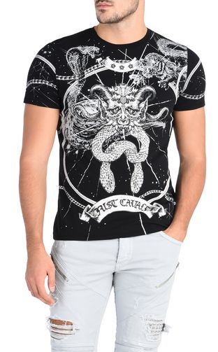JUST CAVALLI T-shirt maniche corte Uomo T-shirt serpente f