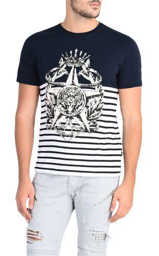 JUST CAVALLI Short sleeve shirt Man Short-sleeved printed shirt f