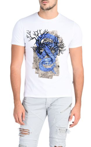 JUST CAVALLI Short sleeve t-shirt U Coloured dragon T-shirt f