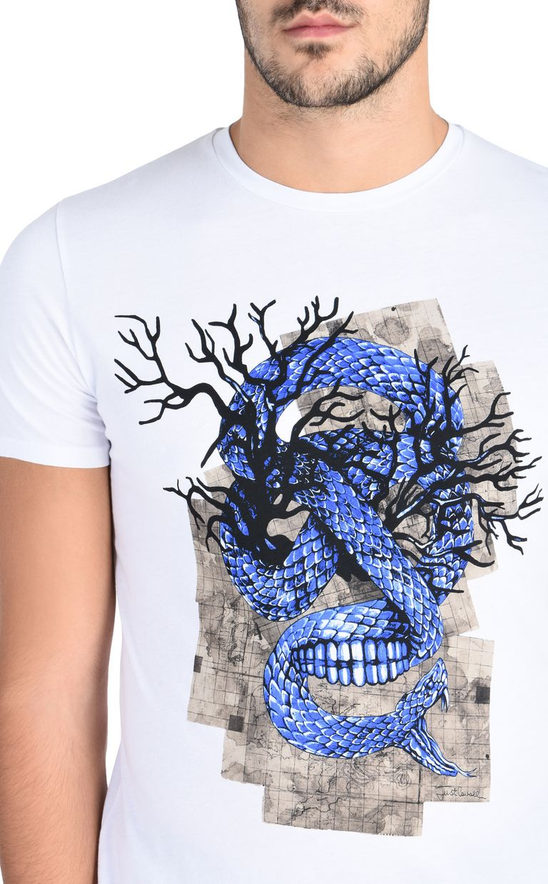 JUST CAVALLI Snake T-shirt Short sleeve t-shirt Man e