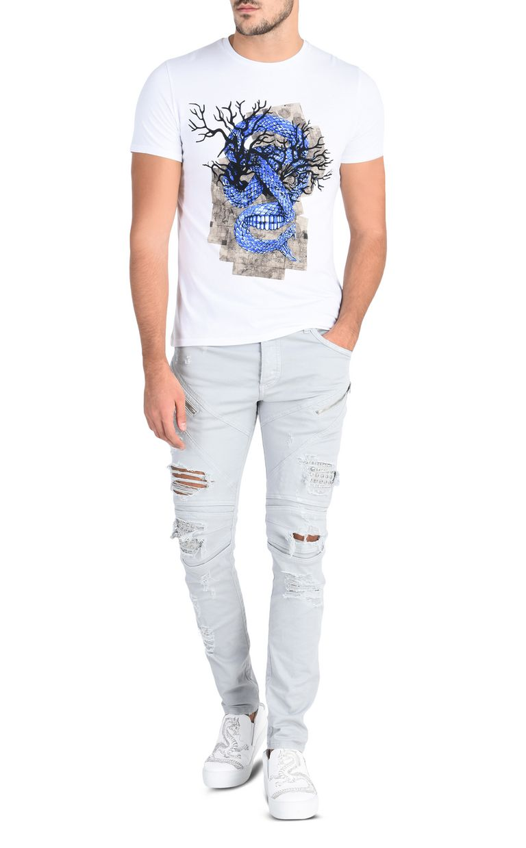 JUST CAVALLI Snake T-shirt Short sleeve t-shirt Man r