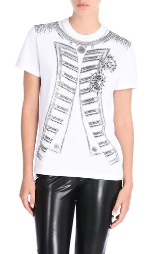 JUST CAVALLI Short sleeve t-shirt D Short-sleeved T-shirt with necklace print f