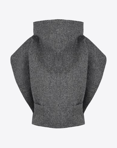 MAISON MARGIELA Top D Voluminous wool tweed top f