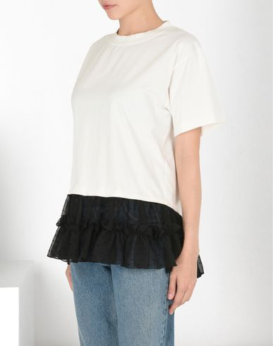 MM6 MAISON MARGIELA Short sleeve t-shirt D Jersey & chiffon T-shirt f